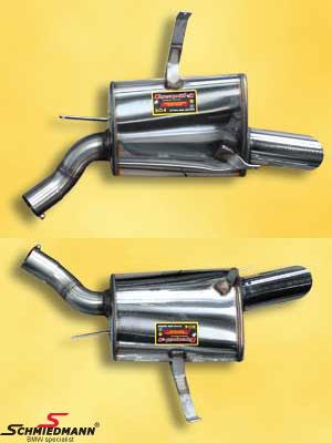 Sportsbagpotte sæt H.+V.-side rustfrit stål Supersprint med 4 X Ø80MM afgange