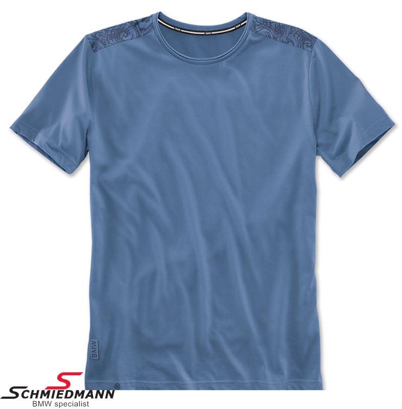 T-shirt -BMW Active- blå, herre funktionel str. XL