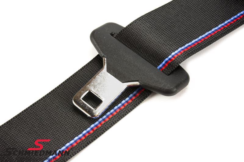 Seat belt black with ///M-stripes front L.-side ...