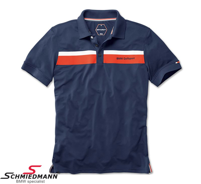 Polo Shirt -BMW Golfsport- Mens, Navi Blue Size XL