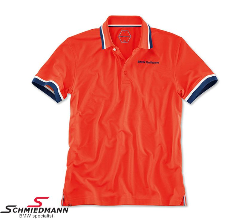 Polo Shirt -BMW Golfsport- Mens, Fire Size XL