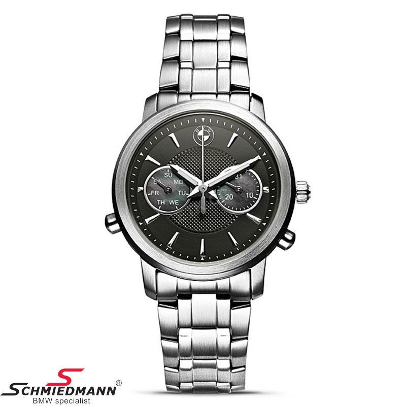 BMW dame armbåndsur, rustfri stål med sort urskive - original BMW