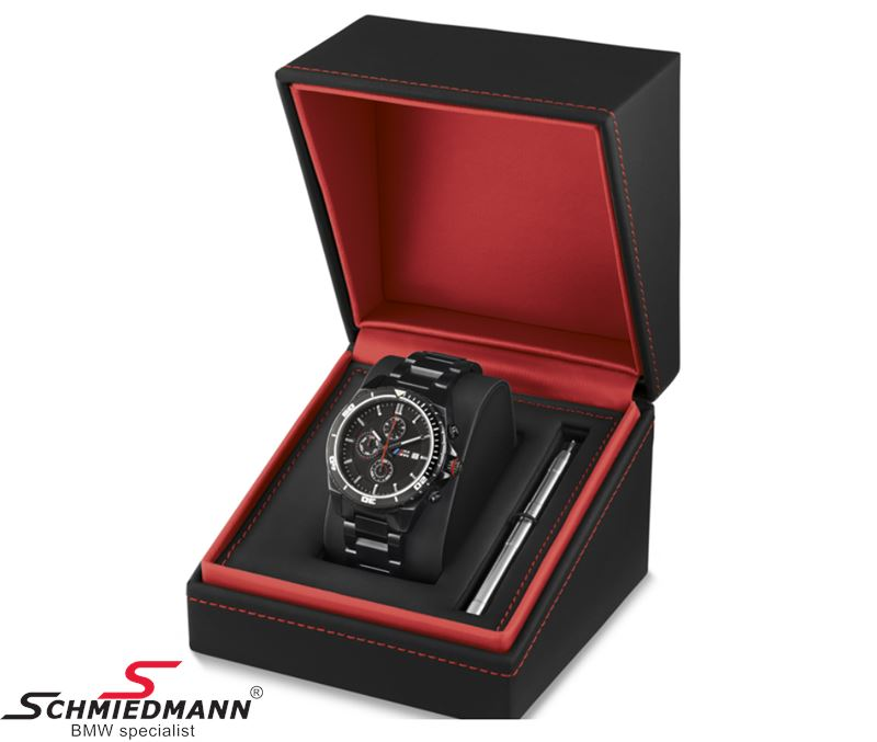 80 26 2 406 694 bmw m mens wristwatch chronograph black original bmw. Black Bedroom Furniture Sets. Home Design Ideas