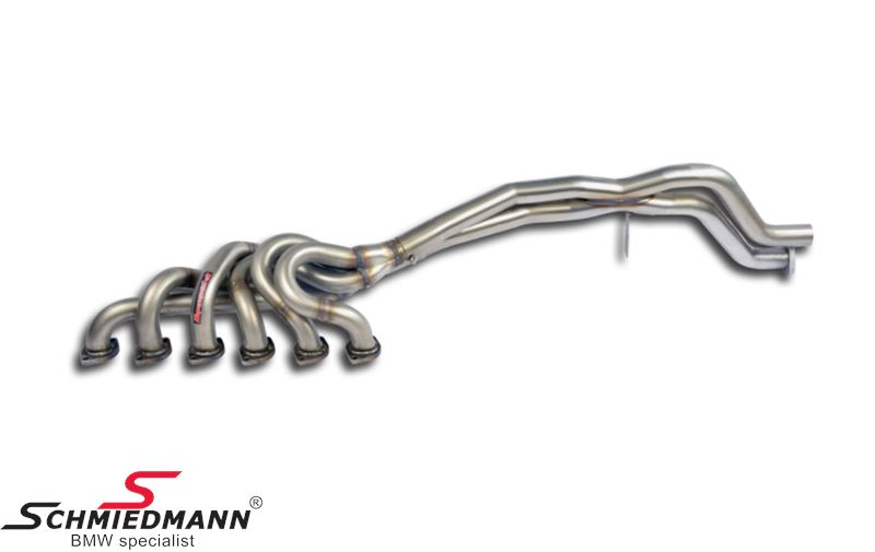 Supersprint sport exhaust manifold incl. x-pipes (Note: Engine mount 11811175592 is necessary, and must be bought separately))