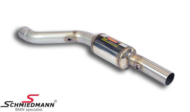 Supersprint forreste mellemrør med dæmper V.-side -Lightweight Racing- fra downpipe til bagerste mellemrør (Forstærker racing-lyden)