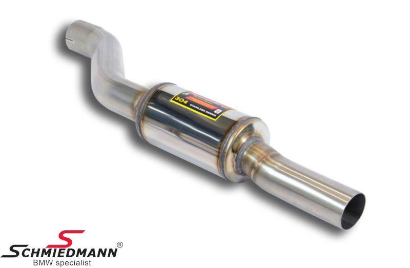 Supersprint forreste mellemrør med dæmper H.-side -Lightweight Racing- fra downpipe til bagerste mellemrør (Forstærker racing-lyden)