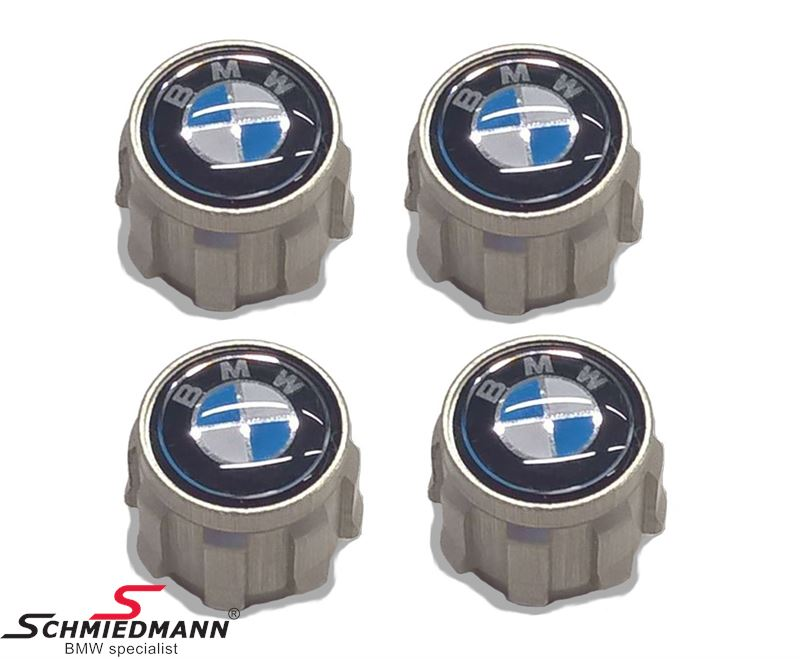 Dust cap set with logo for tyre valves