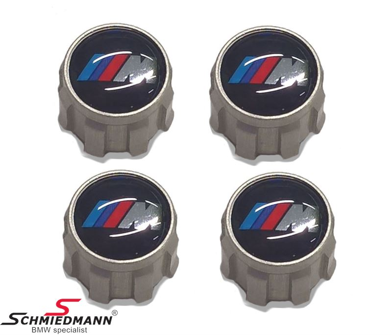 Dust cap set with ///M logo for tyre valves