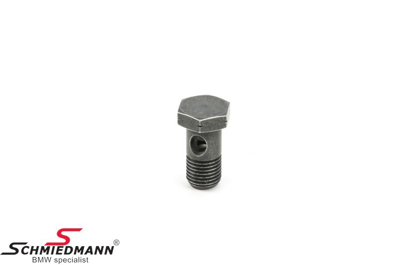 Hollow bolt with check valve for steering oil hose M16X28