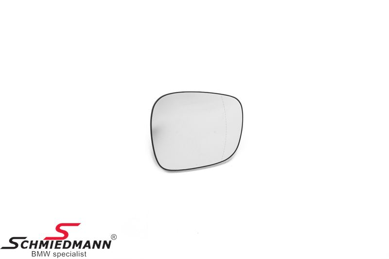 Side-view mirror glass with wide-angle L.-side