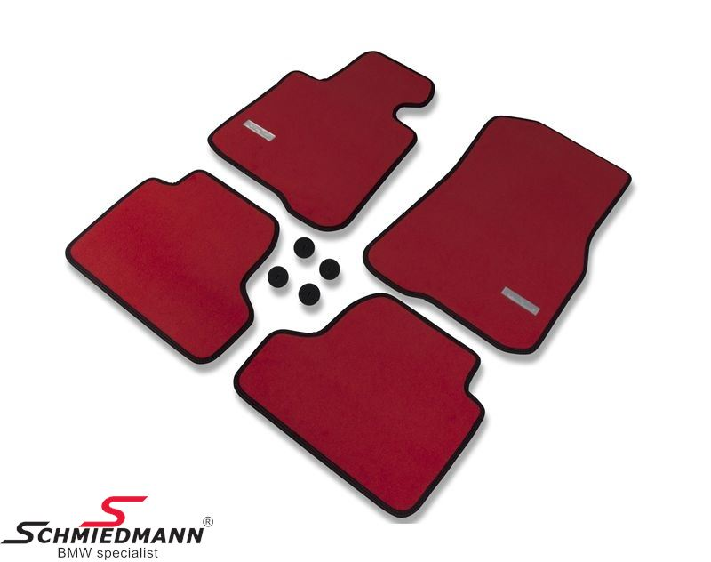 Floormats front/rear original Schmiedmann -Exclusive Red- extra thick quality