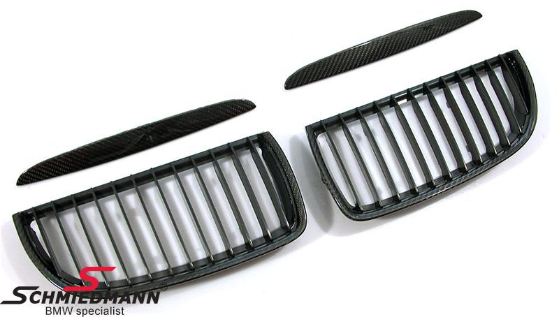 Nieren Satz mit Carbon Rahmen und schwarzen shadowline grills