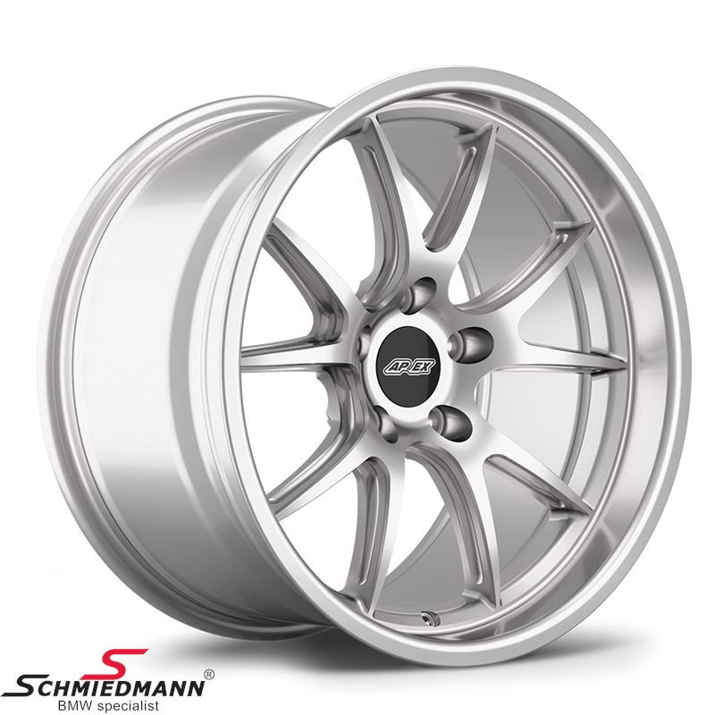 "18"" APEX FL-5 wheel 10,5x18 ET22 deep lip, Race silver (Fits only rear)"