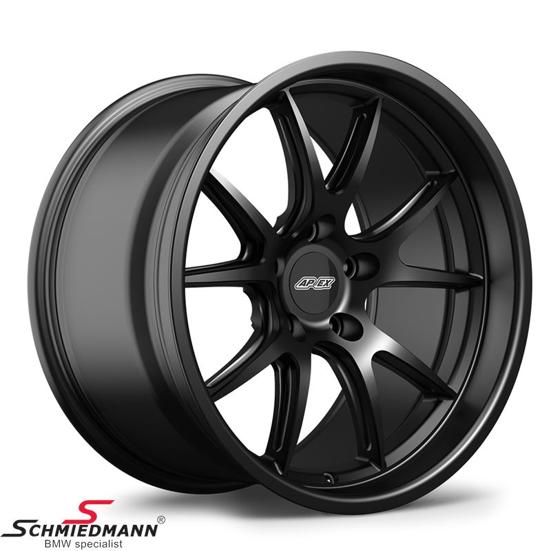 "18"" APEX FL-5 wheel 10,5x18 ET22 deep lip, Satin black (Fits only rear)"