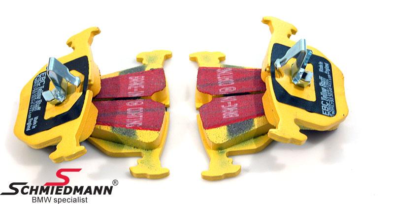 Sportsbremsbeläge hinten EBC yellow stuff (für die Strasse und Rennstrecke)