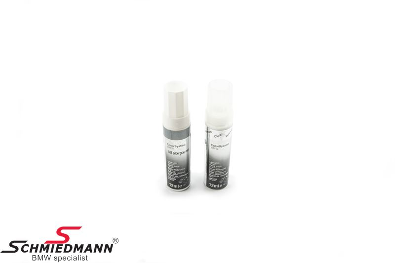 Touch up set (paint/clearpaint)  2x12ML Silbergrau met. A08