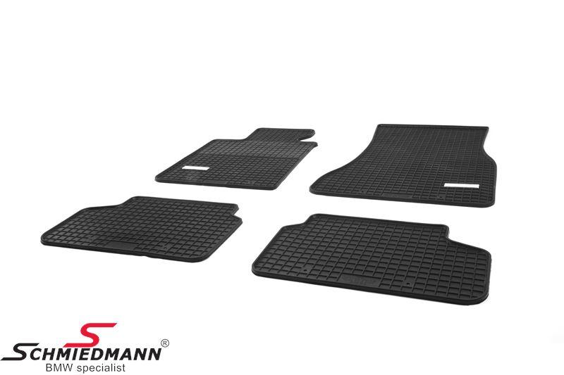 Schmiedmann -Exklusiv- Gummifußmatten vorne/hinten schwarz
