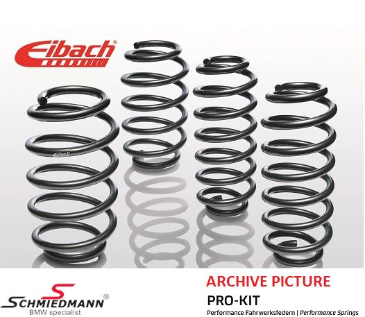 Eibach Pro-Kit lowering springs front 25MM (Rear must be lowered 25MM with computer)