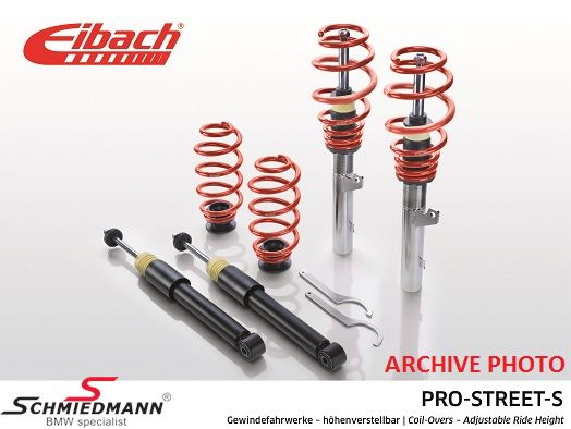 Eibach -Pro Street S- height adjustable suspension kit fram/bak  35-65/35-65MM
