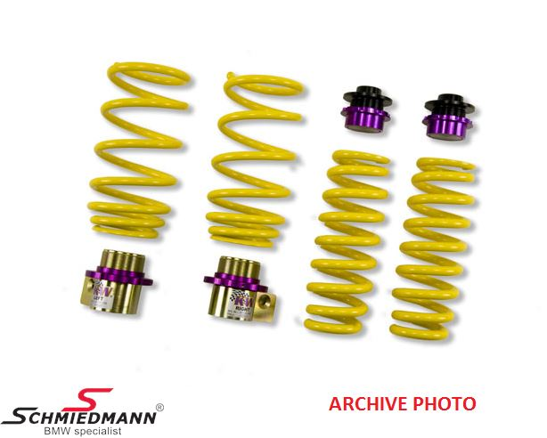 Lowering kit hight adjustable front 5-30MM + rear 5-25MM.<br> Uses the original shock absorbers, but gives adjusting possibilities as coilover kit.