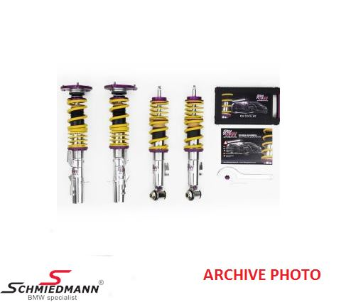 Coilover kit -KW Clubsport 2-way- height, rebound and compression damping adjustable front/rear 25-45MM/25-40MM