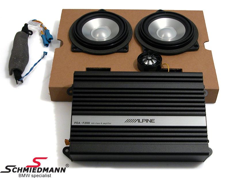 HiFi system Alpine mellemtoner/diskanter/forstærker original BMW