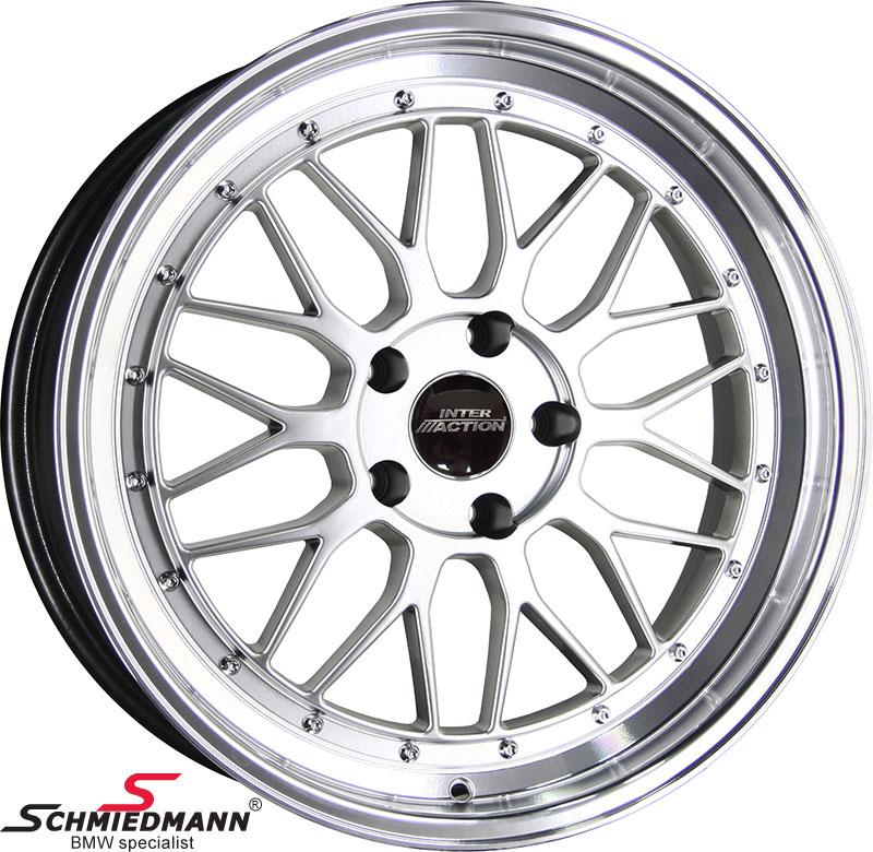 """18"""" EVO Sport B9 silver rim 9x18 (polished alloy lip)(fits only rear)"""