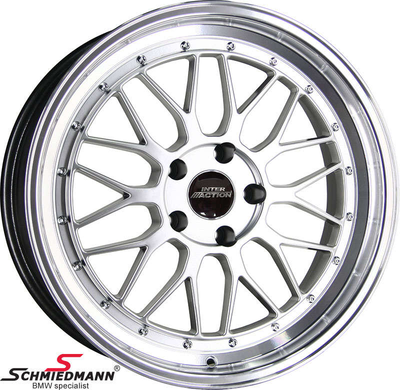 "EVS1995SERIEL  19"" EVO Sport B9 silver rim 9,5x19 (polished alloy lip)(fits only rear)"