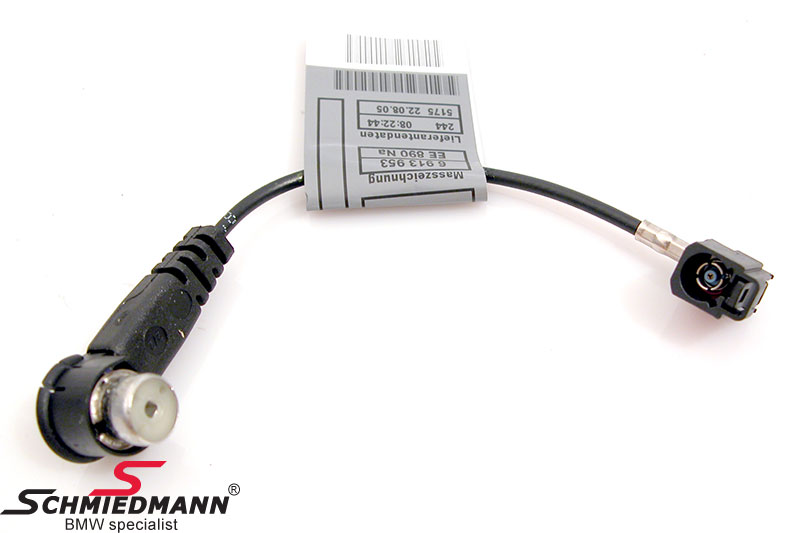 BMW 61126913955 / 61-12-6-913-955  Adaptercable for antenna plug from old to new type plug