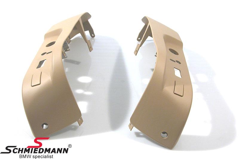 Verkleidung Sitzverstellung unten Sandbeige, Satz für beide Seiten