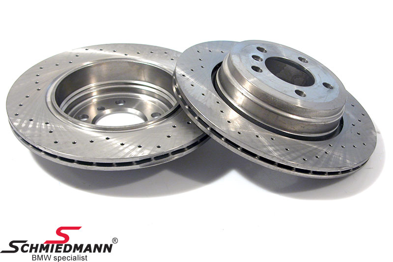 Racing brake discs rear set 324X20MM ventilated with holes Zimmermann