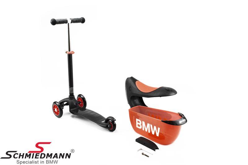 BMW børne scooter, sort/orange