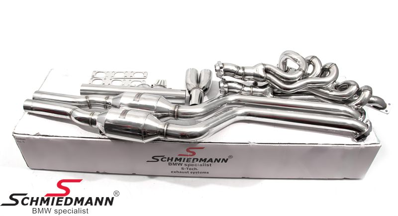 Schmiedmann high flow Sport manifold M52/M54 inclusive 400cell Euro3D4 metal sport catalysts (pipes from the catalyst to the rear silencer is not included)