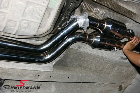 Schmiedmann high flow Sport manifold M52/M54 inclusive 400cell Euro3D4  metal sport catalysts (pipes from the catalyst to the rear silencer is not