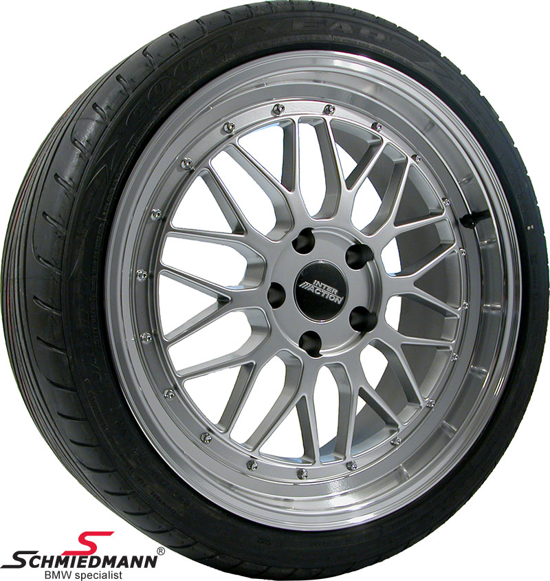 "19"" EVO Sport B9 8,5+9,5X19 rims with 245/35+275/30/19 (Polished alloy lip)"