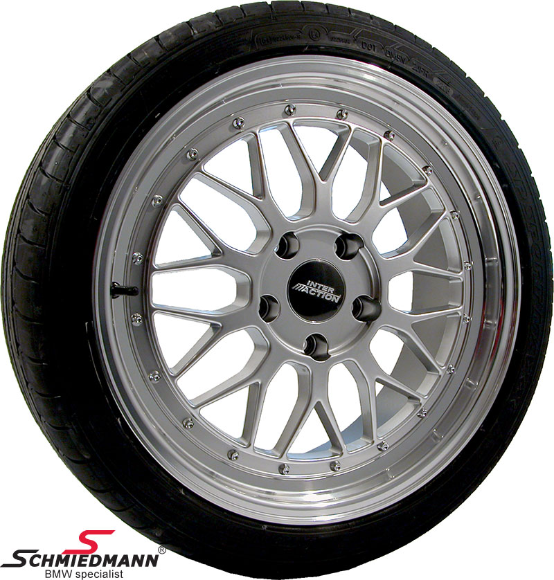 "18"" EVO Sport B9 8+9X18 rims with 245/40+275/35/18 (Polished alloy lip)"