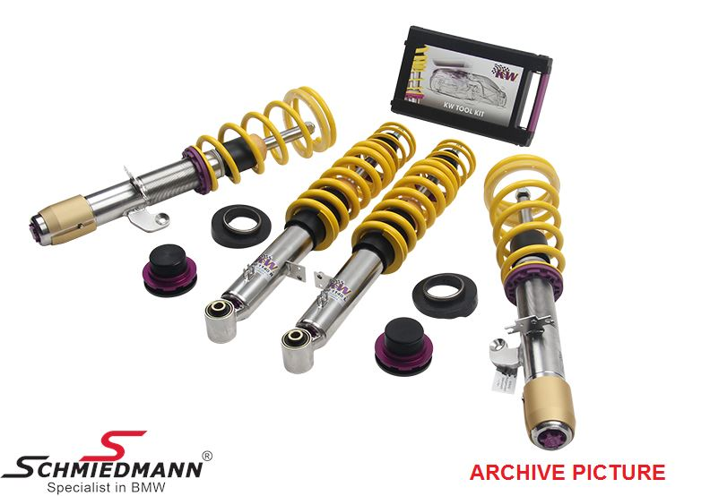 Coilover kit -KW variant 3- height, rebound and compression damping adjustable front/rear 15-40MM/20-45MM