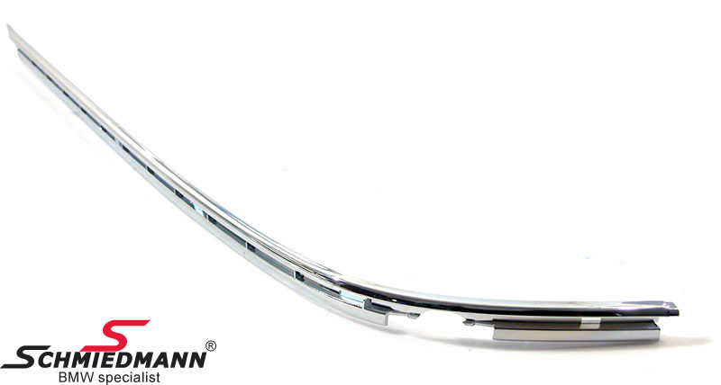 Chrome moulding for the rearbumper guard L.-side