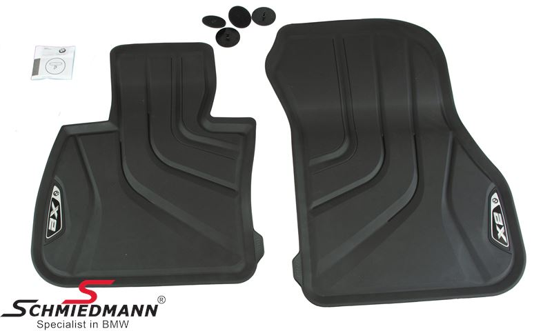 Set of 2 Front Mats BMW 51472452201 All-Weather Floor Mats for F39 X2