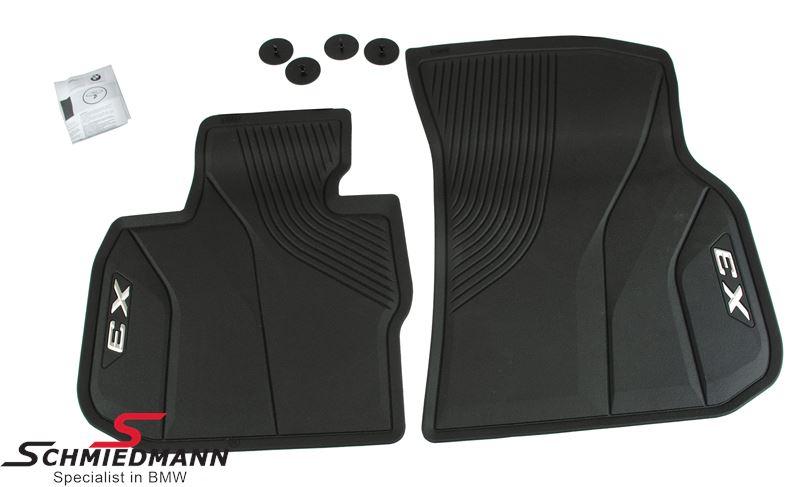 Floormats -All weather- front, black - original BMW