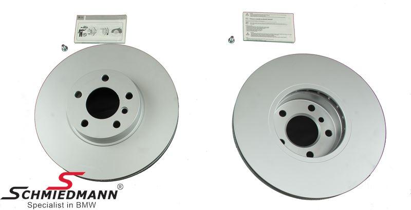 Brake disk set 332x30MM ventilated - original Hella-Pagid Germany
