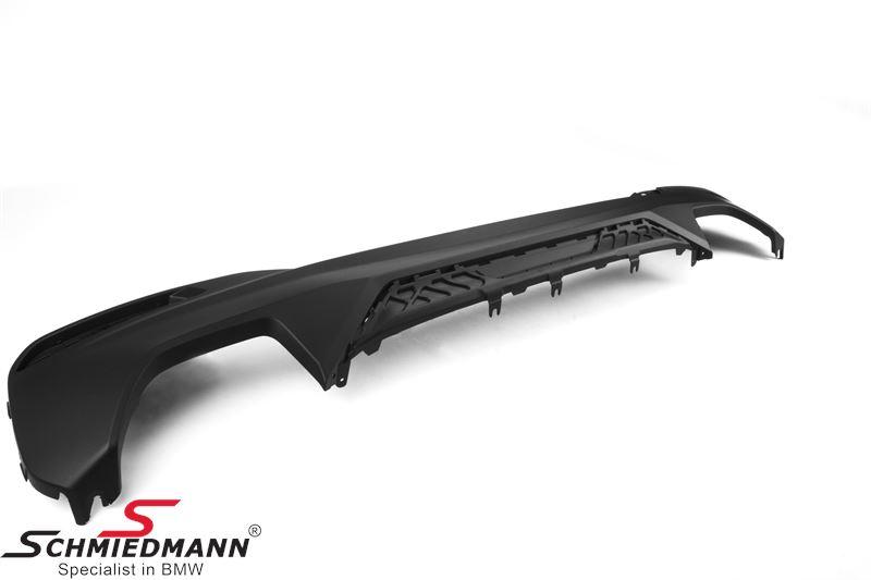 Rear diffuser black -BMW ///M-Performance- for M-Technic rear skirt/M-Aerodynamic rear bumper