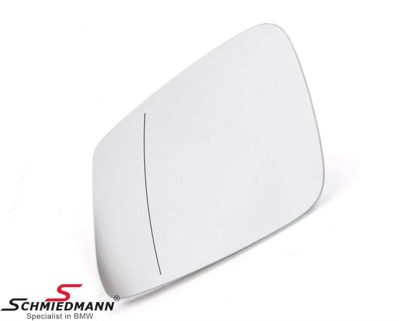 Side-view mirror glass wide-angle and heated L.-side