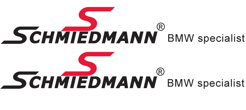 "Schmiedmann streamer for sideskirts red ""S"" and text black lengte 60CM"