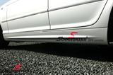 """SCMRODSORT  Schmiedmann iso tarra punainen """"S"""" ja musta teksti (pituus 60cm - korkeus 9cm)"""