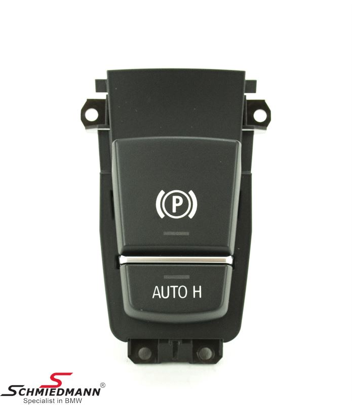 Parking brake switch with auto-hold