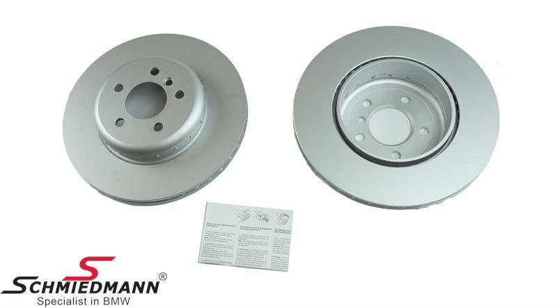 Brake discs rear ventilated 345X24MM - ventilated, 2 pcs bi-metal version