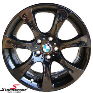 "BMW 36116779554 / 36-11-6-779-554  18"" Sternspeiche 127 black rim 8X18 (original BMW)"