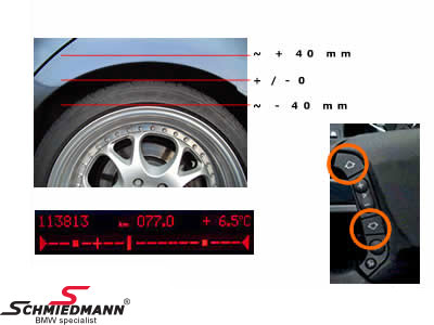 EJACK1  Modul for adjustment of the hight of the rear axle from the multifunction steering wheel