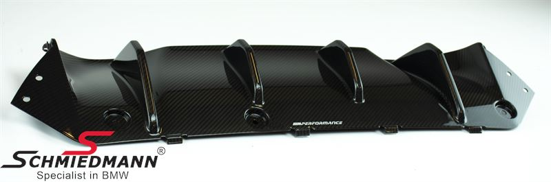 Rear diffusor carbon -///M-Performance- for the rear bumper, original BMW